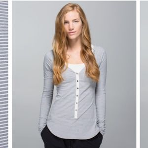 Lululemon Awesoma Henley Top Button down